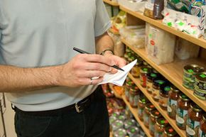 Keep a shopping list with you to avoid impulse buying.