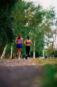 Racewalking involves a higher rate of muscle activity than jogging.