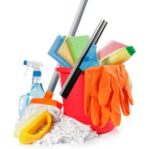 Assemble your army of cleaning products before you start. You'll be glad you did!