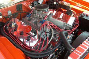 A 1971 Plymouth Hemi 'Cuda engine