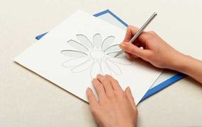 Cut your stencil in one fluid line to achieve a smooth edge.