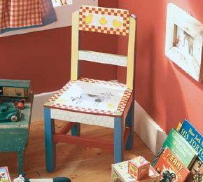 Stencil a Barnyard Animals Chair.