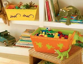 Stencil the Creepy-Crawly Nesting Boxes.