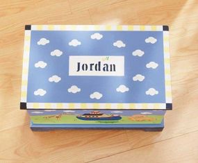 Personalize the top of the toy chest.