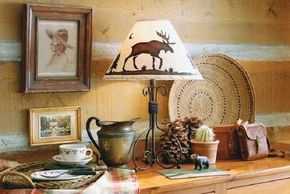 A Rustic Moose Lampshade is rustic, yet genteel.