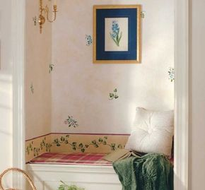 Make any nook into a retreat with this stencil design.