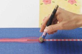 Stencil the stripe Bright Pink.