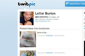Many celebrities use Twitpic to share random images from their day.