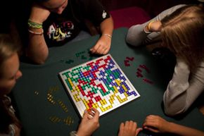 In Blokus, it pays to take note of your opponents' strategies (and remaining pieces), not just your own.
