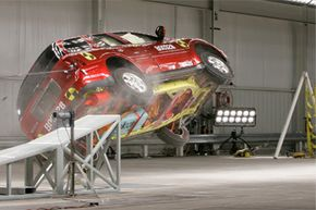 Automakers design crash-test facilities, like this General Motors one, specifically to study the problem of rollover.