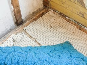 Recycling this old carpet and padding is expensive but more sustainable than tossing it in the dump.