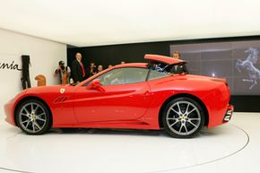 The Ferrari California was unveiled during the first press day of the Paris Auto Show in 2008.