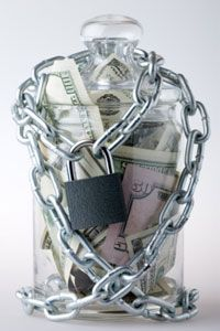 Once that money's in your savings account, consider it under lock and key -- hands off unless you run into an emergency!