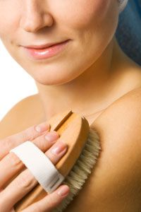 It's good to exfoliate your whole body, not just the face.