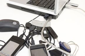 Ideally, your computer will have enough ports that you won't have to jumble all your accessories together. If you find yourself in a jam like this, consider whether or not you need all those peripherals.