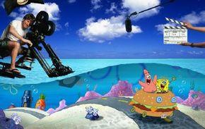 "A staff of 45 works on each episode of ""SpongeBob."""