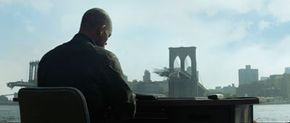 The bridge-destruction scenes are some of the few completely computer-generated shots in the movie.