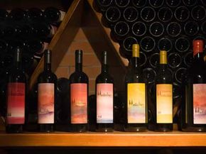 The Montechiari Winery in Tuscany offers a wide selection of wines. See our collection of wine pictures.