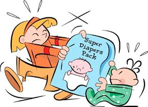 Baby's diapers contain a substance that creates a cool magic trick.