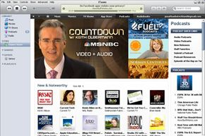 Subscribe to podcasts through iTunes.