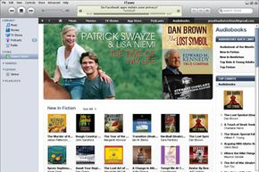 The iTunes store contains a large library of audio books.