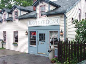 Photo courtesy Ed Grabianowski and Deborah Hanny                              Sweet Jenny's Ice Cream in Williamsville, NY