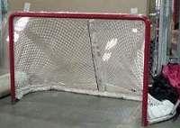 "An NHL goal net measures 6'W x 4'H x 44""D."