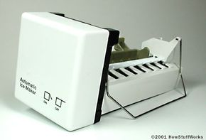 A standard home icemaker that you install in your freezer