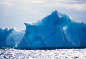 Iceberg off the coast of Newfoundland, Canada, near Iceberg Alley