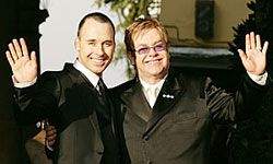 "We would've paid good money to hear Sir Elton sing ""Your Song"" to David Furnish."