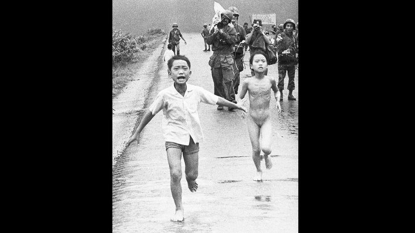 children fleeing napalm, Vietnam
