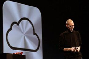 Steve Jobs introduced the iCloud service at the Apple World Wide Developers Conference in June 2011.