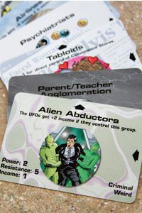 Illuminati cards are bright and clever, the perfect foil for a game that's rife with conspiracy, cheating and intrigue.
