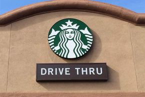 More reason to be paranoid: The Starbucks logo also shows signs of Illuminati domination.