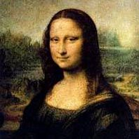 Leonardo Da Vinci's Mona Lisa and A Haddon Sundblom Santa illustration