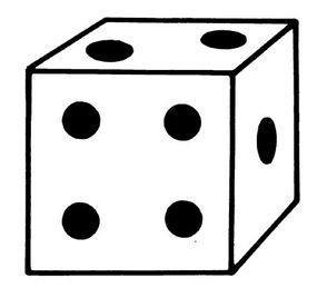 Paint your dice with dots, or other images. You choose!