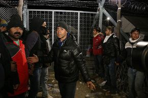 Refugees from Iraq, Syria and Afghanistan enter Greece on Dec. 3, 2015. Some fear that refugees from these and other countries could enter the U.S. as terrorists, but the American refugee program has an extensive vetting process.