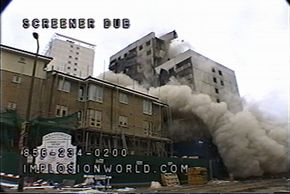 Click here to see a video of the Holly Street Development, blasted in 2001 by Controlled Demolition Group, Ltd..