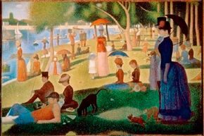 Sunday Afternoon on the Island of the Grand-Jatte (1884-1886)                              by Georges Seurat. See more pictures of Impressionist paintings.
