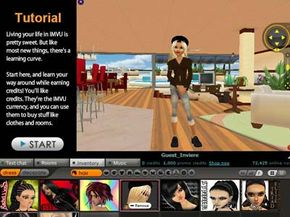 The tutorial can get you through the basics of IMVU.