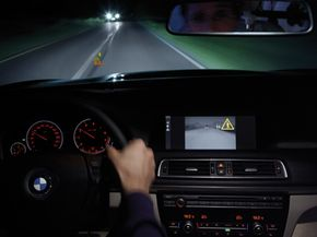 Car Gadgets Image Gallery BMW's Night Vision with Pedestrian Detection system allows drivers to see what (or who) is down the road -- even on the darkest nights. See more pictures of car gadgets.