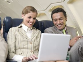 The FCC and FAA have currently restricted cell-phone and e-mail use while in the air due to safety concerns.