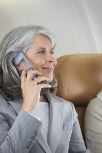 New technology will let air passengers use their cell phones and the Internet while in the air.