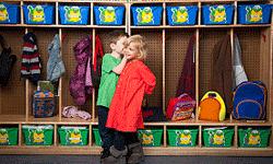 Kindergarteners will hone fine skills like the art of coat removal.