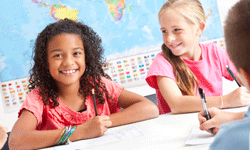 By third grade, kids can express themselves in writing and understand complex grammatical concepts.