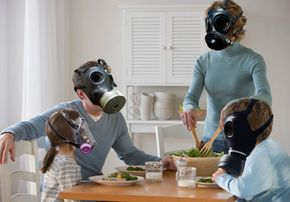 Indoor air quality may be even worse than outdoor air quality. Gas mask anyone?