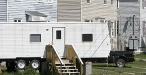 People living in government-provided trailers after Hurricane Katrina suffered from symptoms of formaldehyde exposure such as burning eyes, respiratory distress and nausea.
