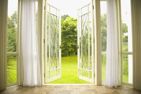 Opening the windows can improve indoor air quality.