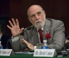 """Vinton G. Cerf, vice president & chief Internet evangelist at Google, Inc., during the Senate Judiciary hearing on """"Reconsidering Our Communications Laws: Ensuring Competition and Innovation."""""""