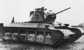 The A12E1, the prototype of the Matilda II Heavy Infantry Tank Mark II. The Matilda II was much more heavily armored than the Matilda I, its predecessor. See more tank pictures.